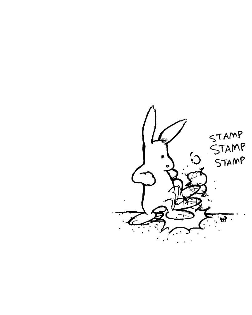 SOUND: stamp stamp stamp