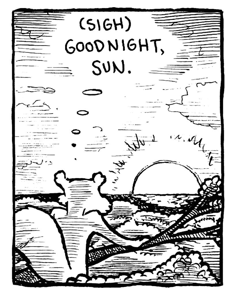 FLYNN: (sigh) Goodnight, Sun.