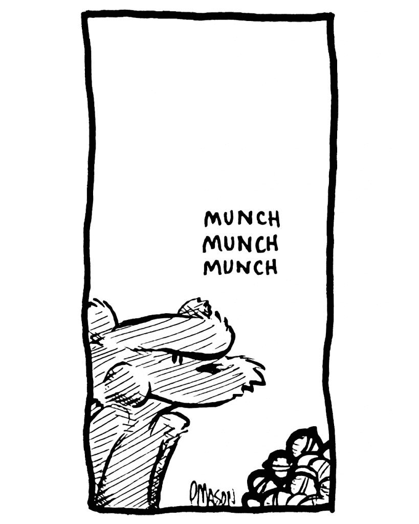 SOUND: munch munch munch