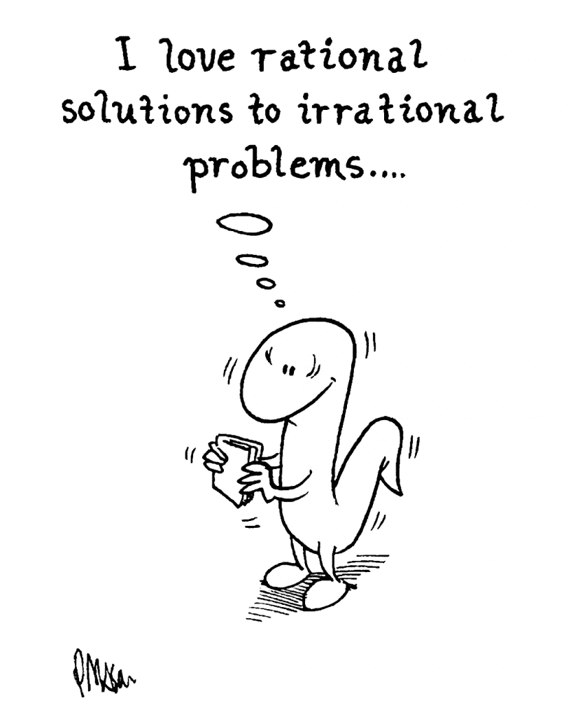HOT CHOCOLATE: I love rational solutions to irrational problems...