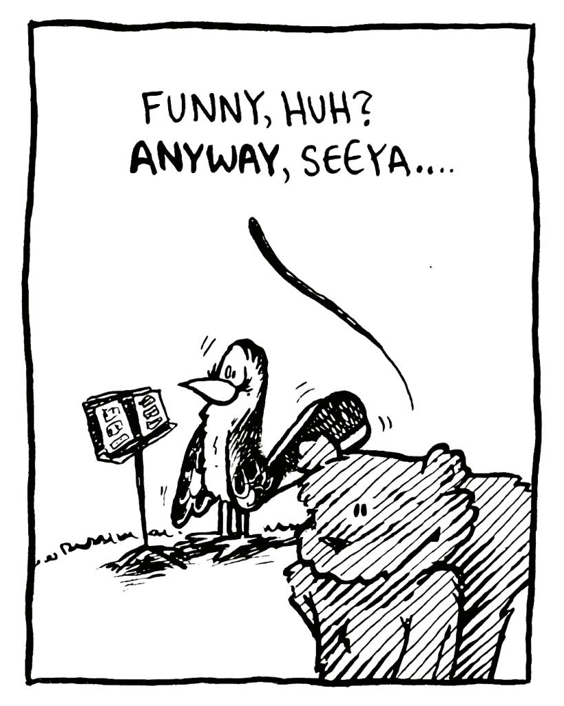 FLYNN: Funny, huh? ANYWAY, seeya...