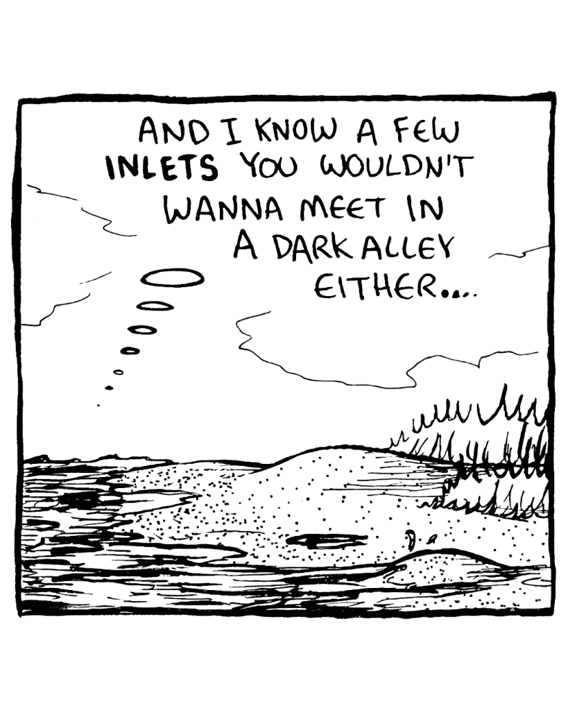 THE SEA: And I know a few INLETS you wouldn't wanna meet in a dark alley either...