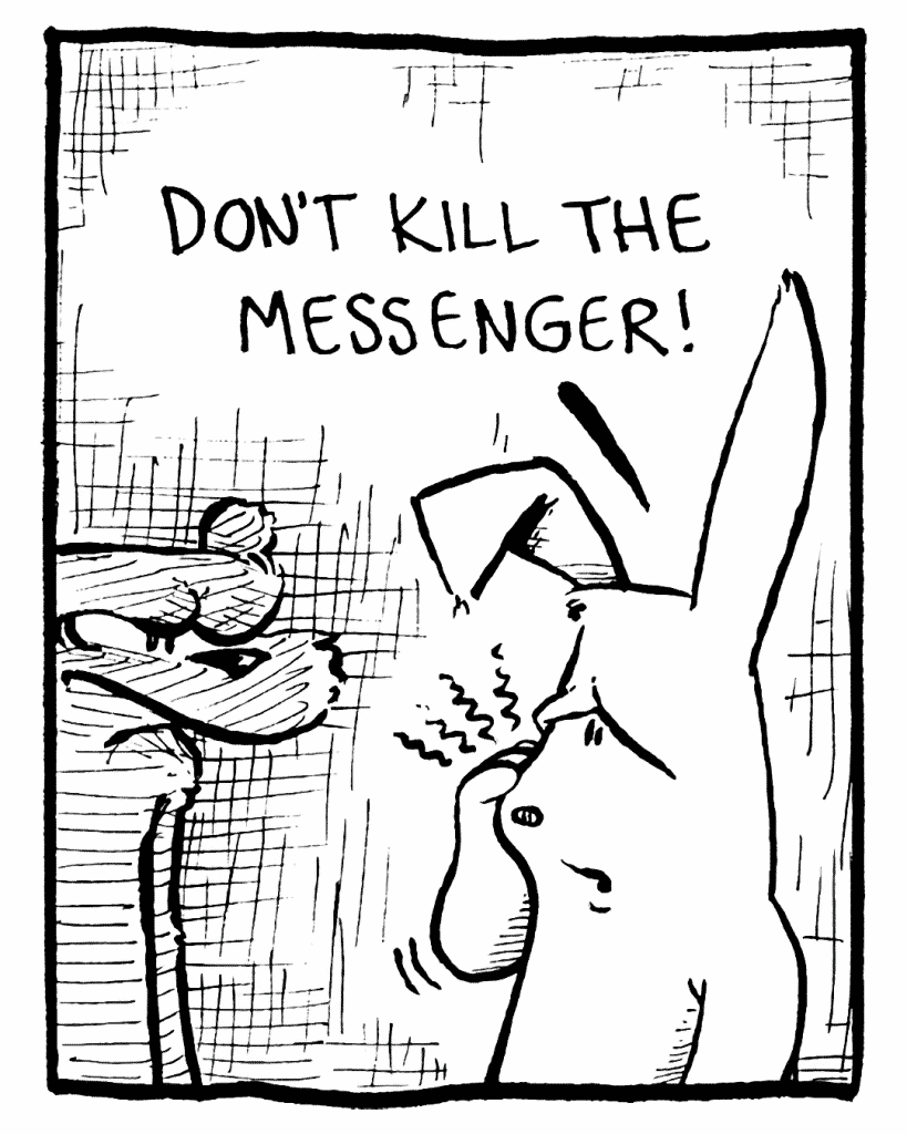 ROONIE: Don't kill the messenger!