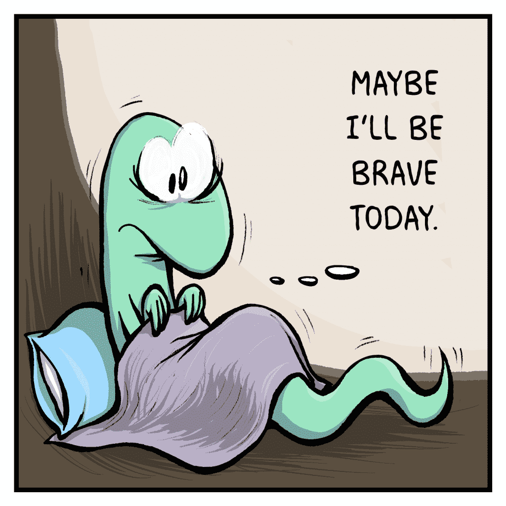HOT CHOCOLATE: Maybe I'll be brave today.