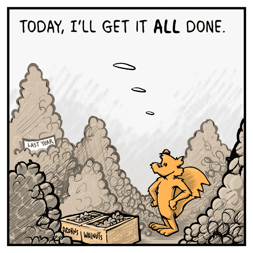FLYNN: Today, I'll get it ALL done.