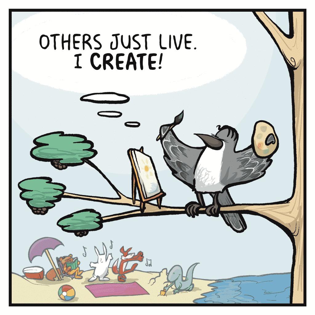 SHELKEY: Others just live. I CREATE.