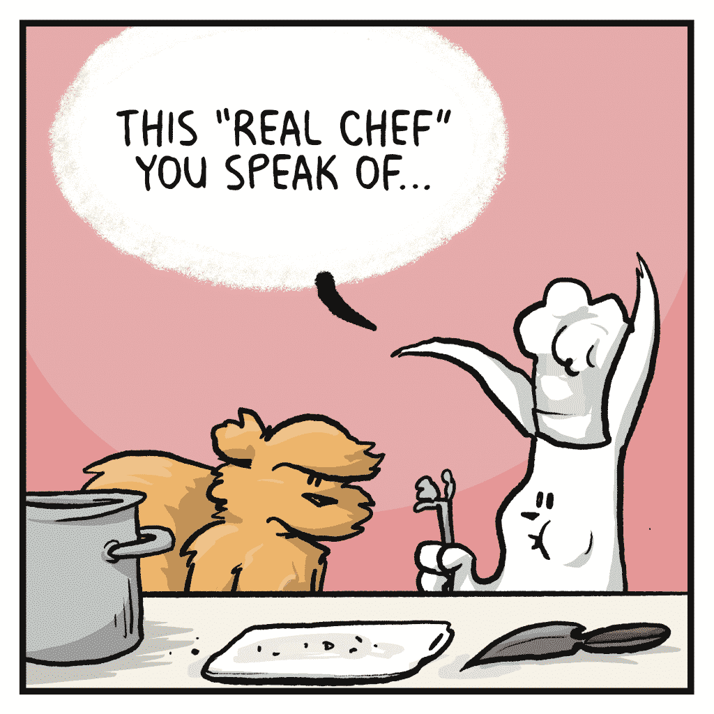 """ROONIE: This """"real chef"""" you speak of..."""