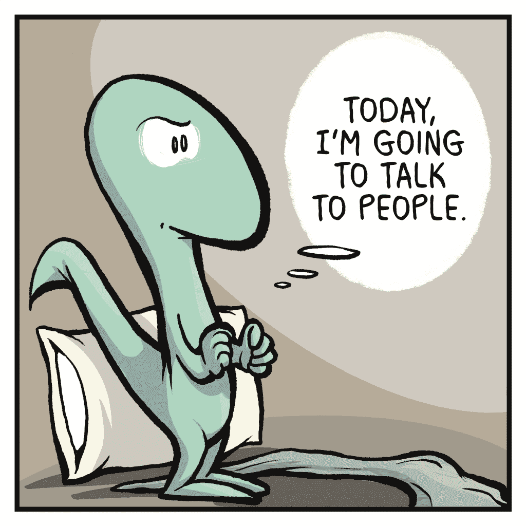 HOT CHOCOLATE: Today, I'm going to talk to people.