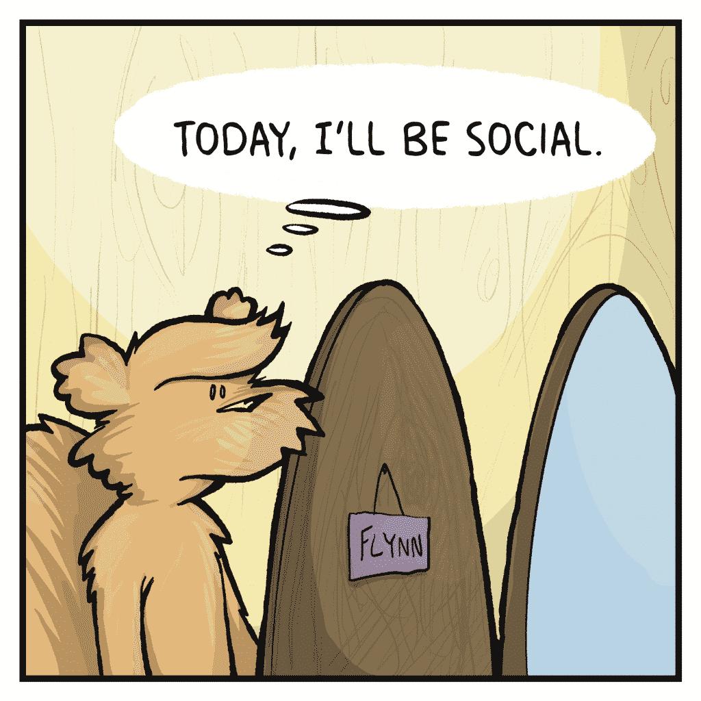 FLYNN: Today, I'll be social.