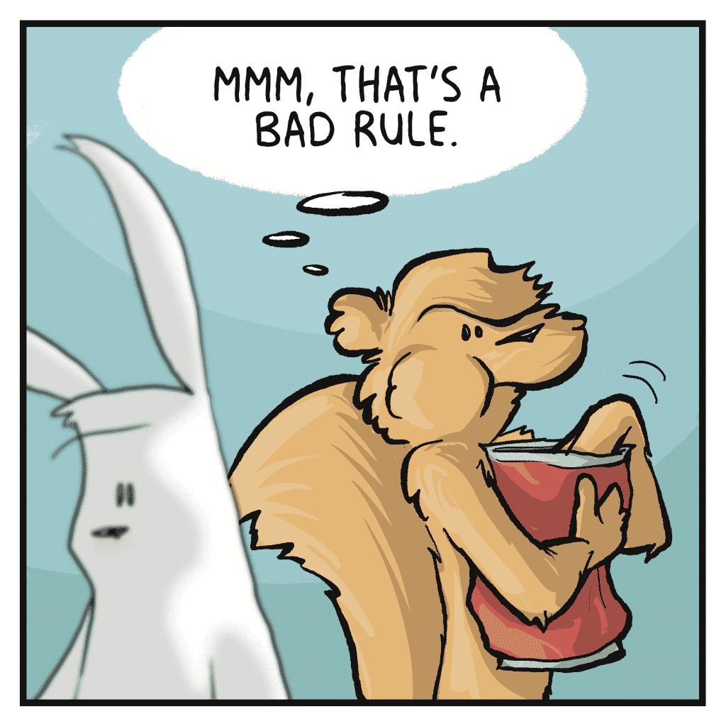 FLYNN: Mmm, that's a bad rule.