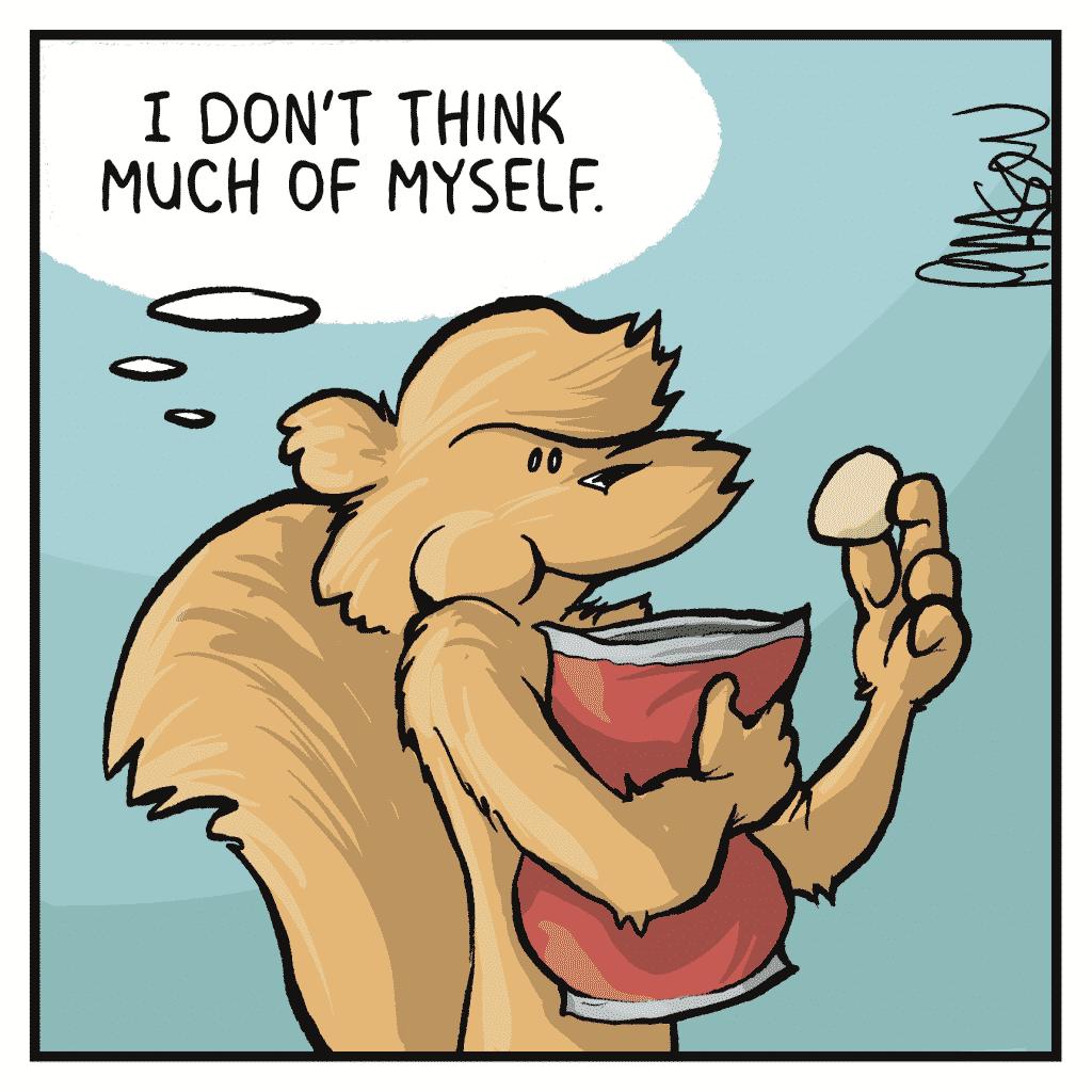 FLYNN: I don't think much of myself.