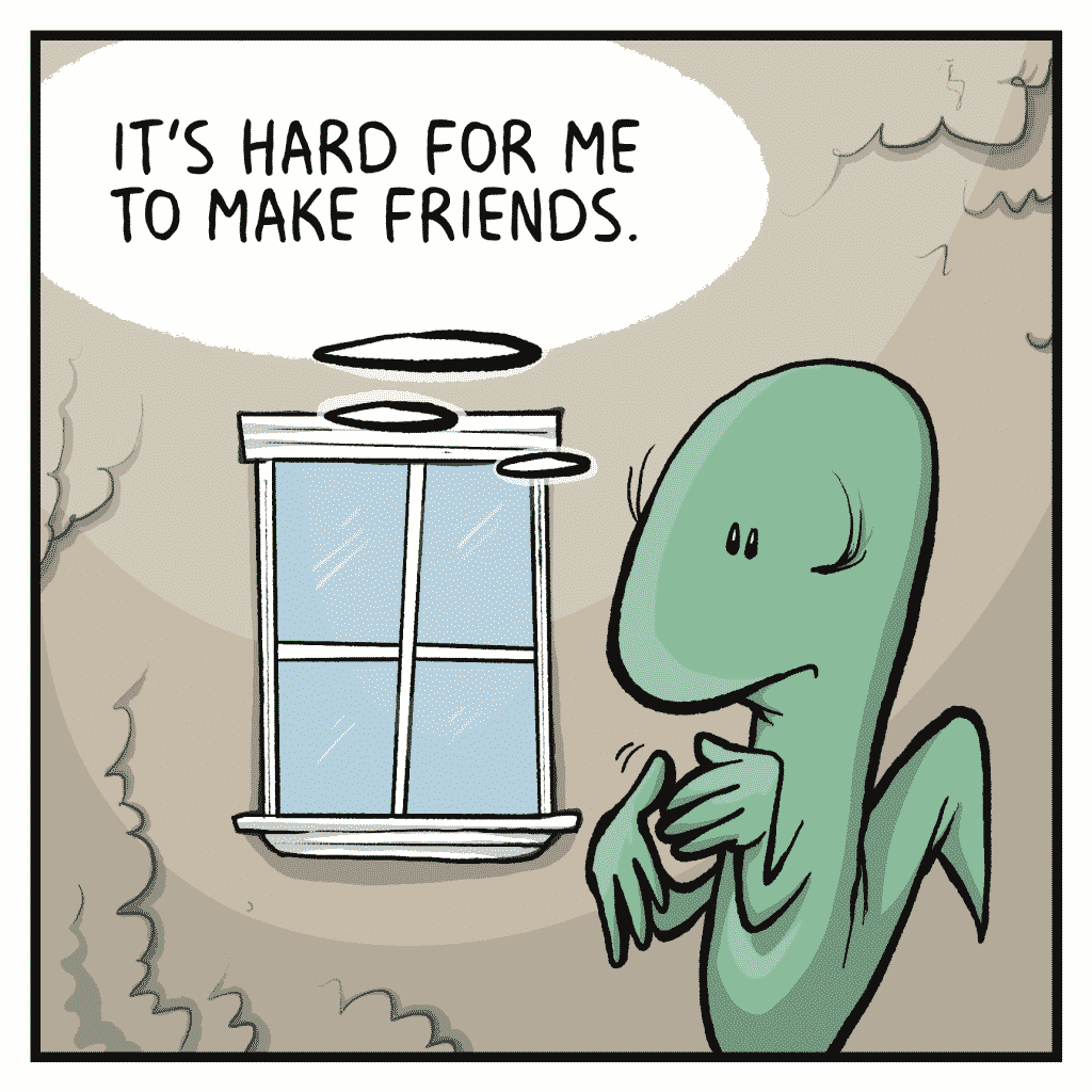 HOT CHOCOLATE: It's hard for me to make friends.