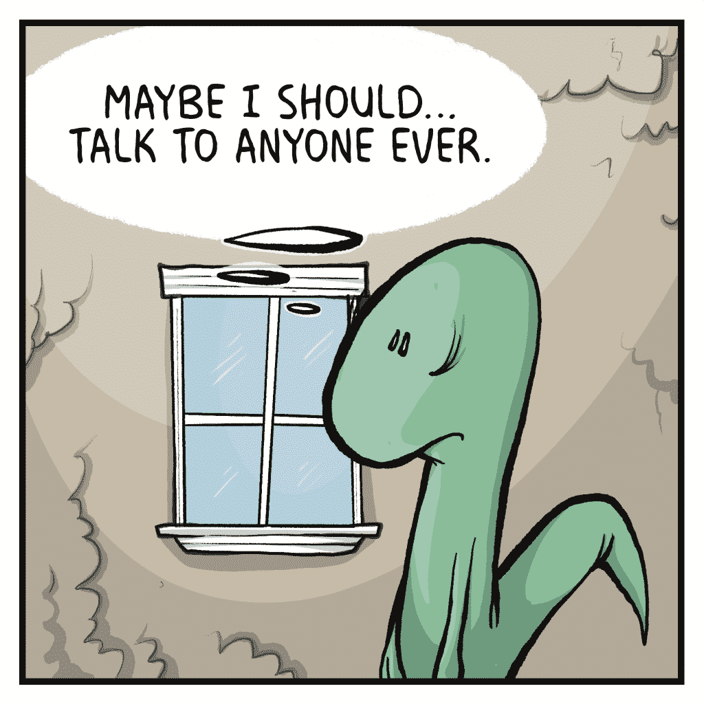 HOT CHOCOLATE: Maybe I should... talk to anyone ever.